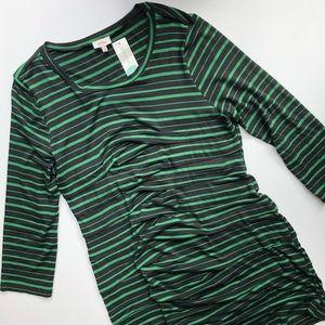 NEW Pixley Catori Striped/Ruched Dress
